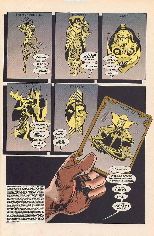 Read online Secret Defenders comic -  Issue #15 - 2