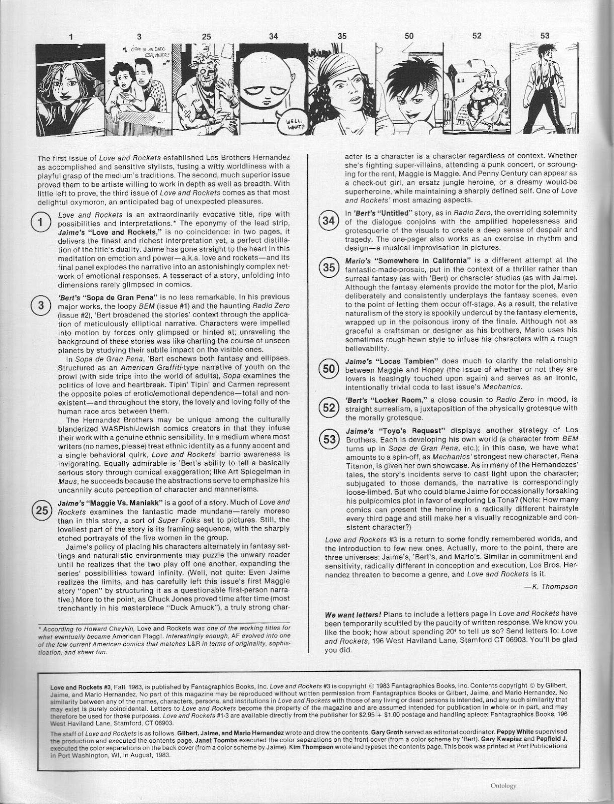 Love and Rockets (1982) Issue #3 #2 - English 2