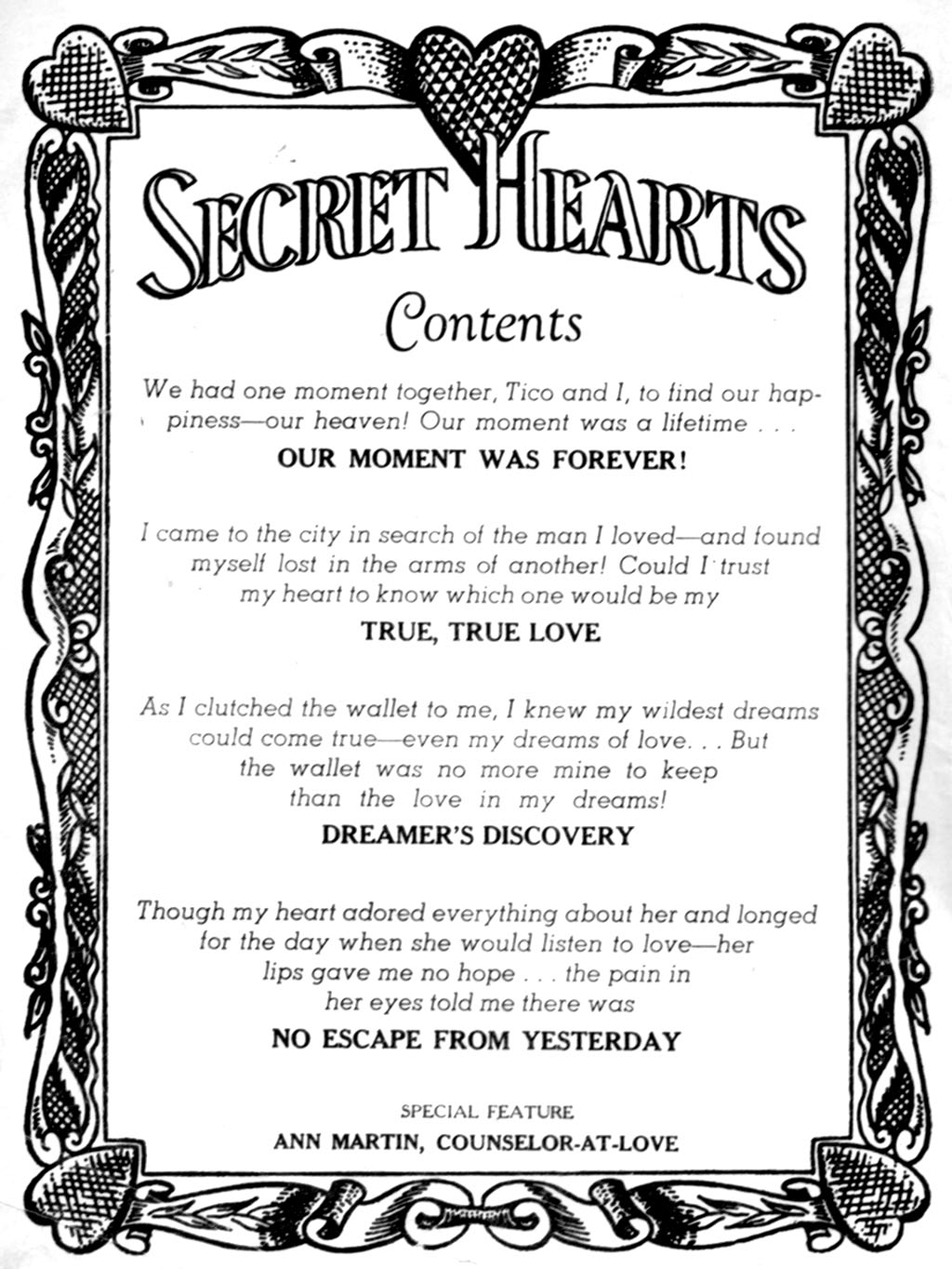 Read online Secret Hearts comic -  Issue #51 - 2