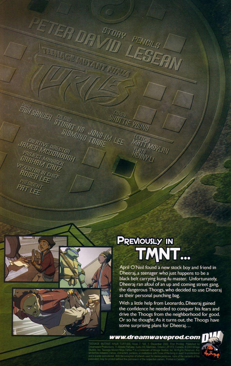Teenage Mutant Ninja Turtles (2003) chap 7 pic 2