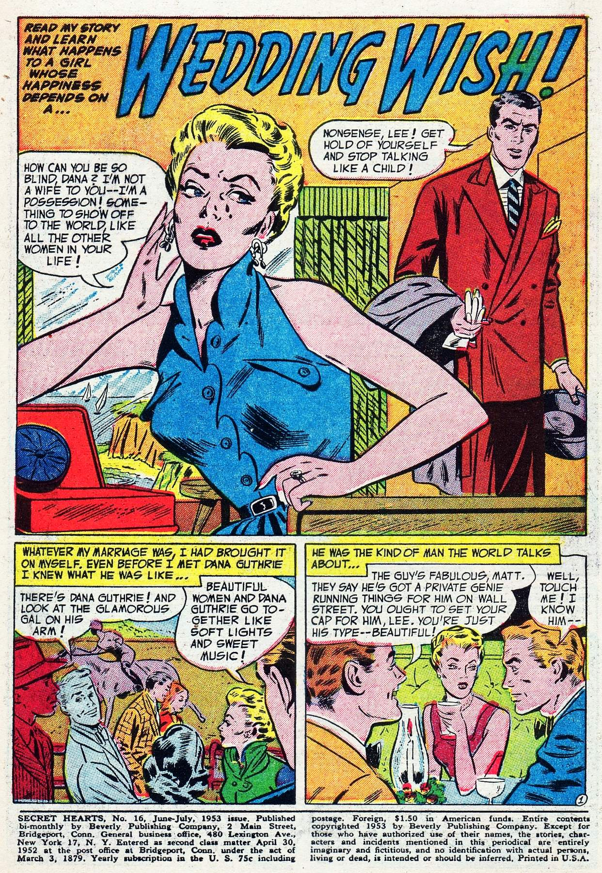 Read online Secret Hearts comic -  Issue #16 - 3
