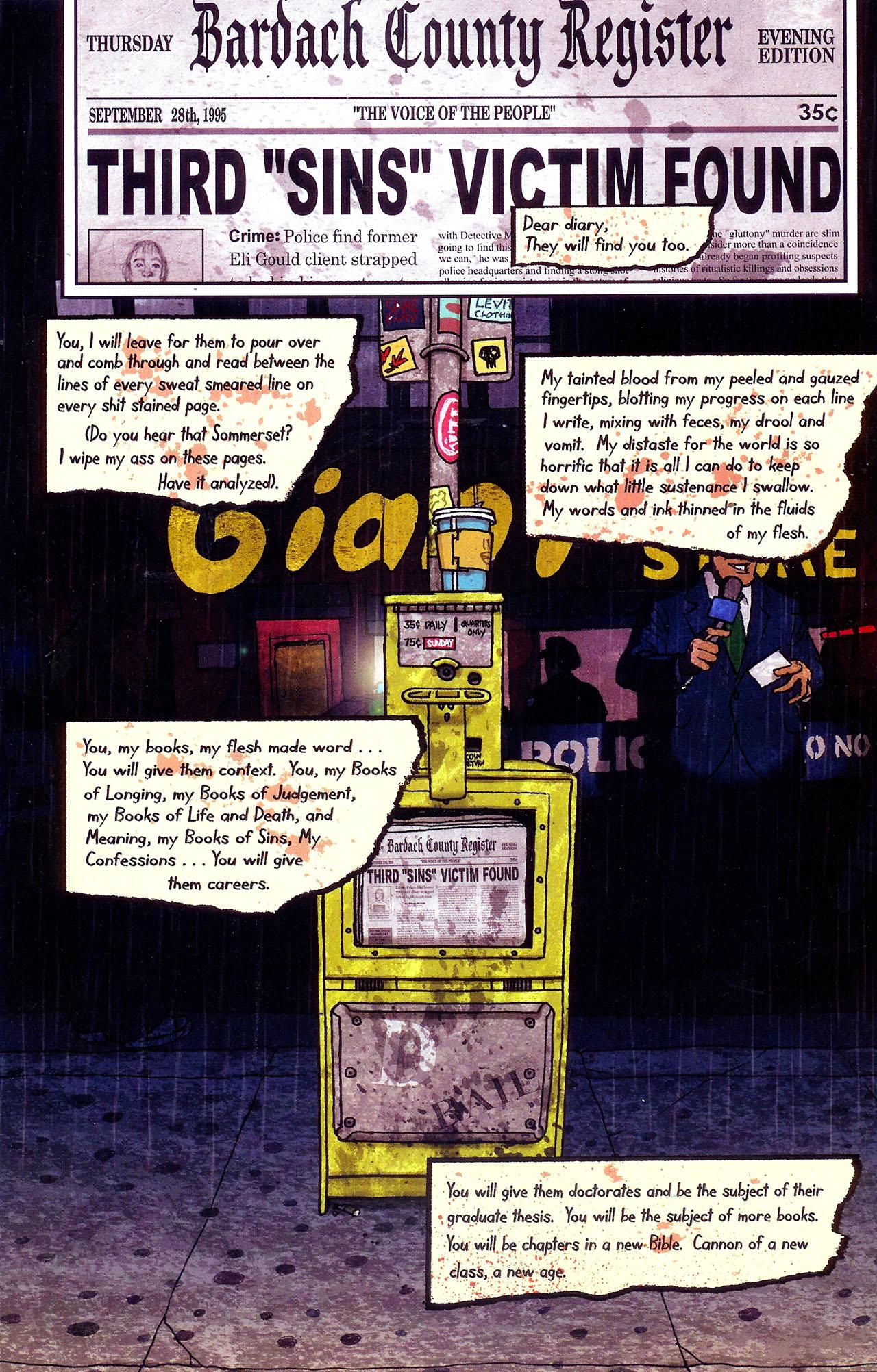 Read online Se7en comic -  Issue #6 - 10