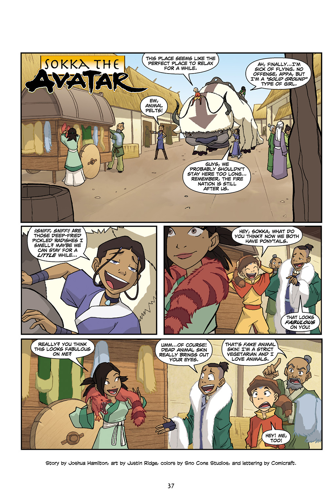 Nickelodeon Avatar: The Last Airbender - The Lost Adventures chap full pic 38