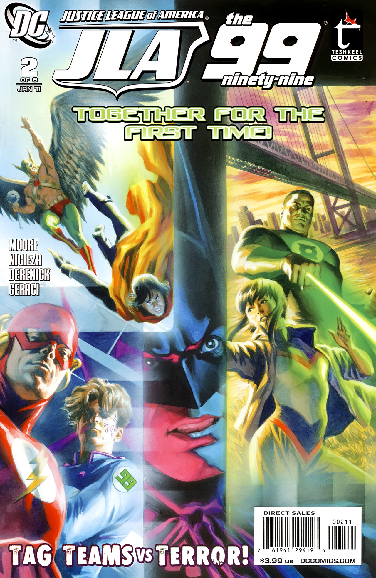 Read online Justice League of America/The 99 comic -  Issue #2 - 1