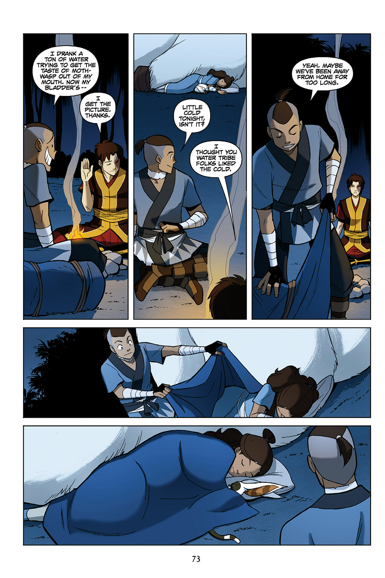 Read online Nickelodeon Avatar: The Last Airbender - The Search comic -  Issue # Part 1 - 74
