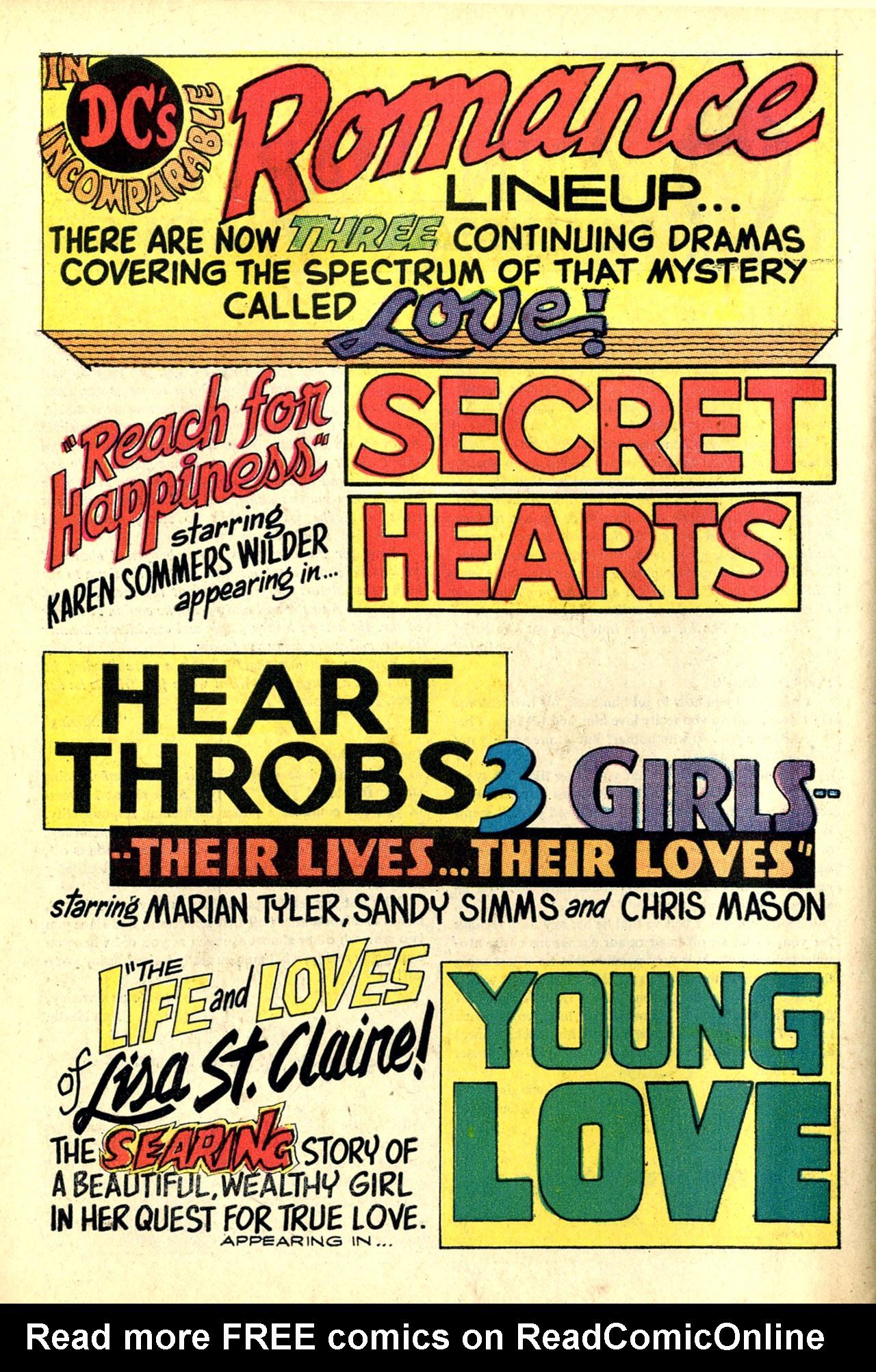Read online Secret Hearts comic -  Issue #132 - 69