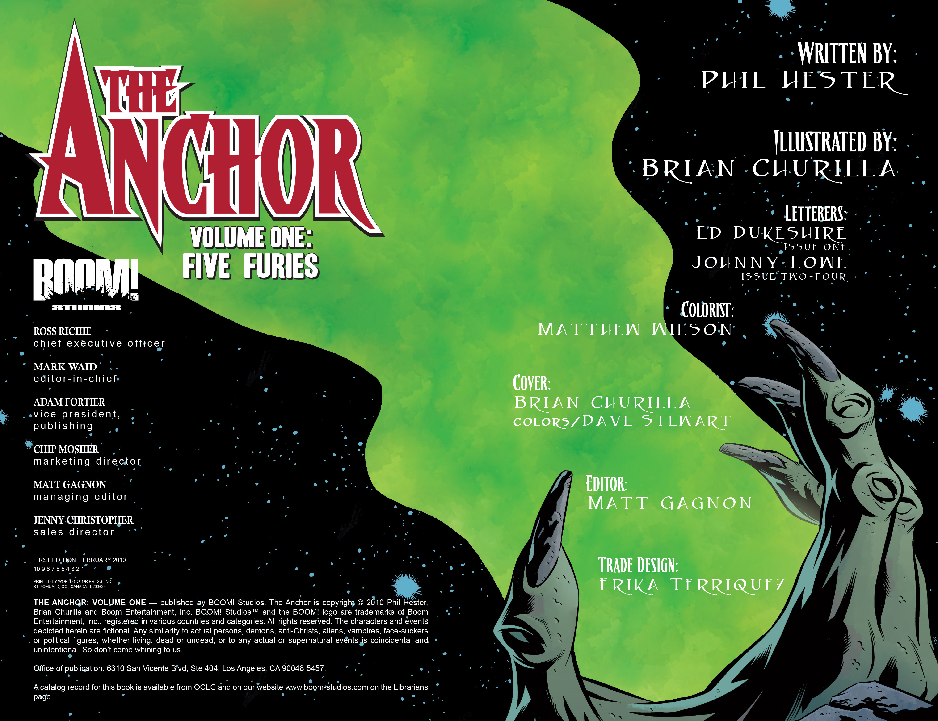 Read online The Anchor comic -  Issue # TPB 1 - 3