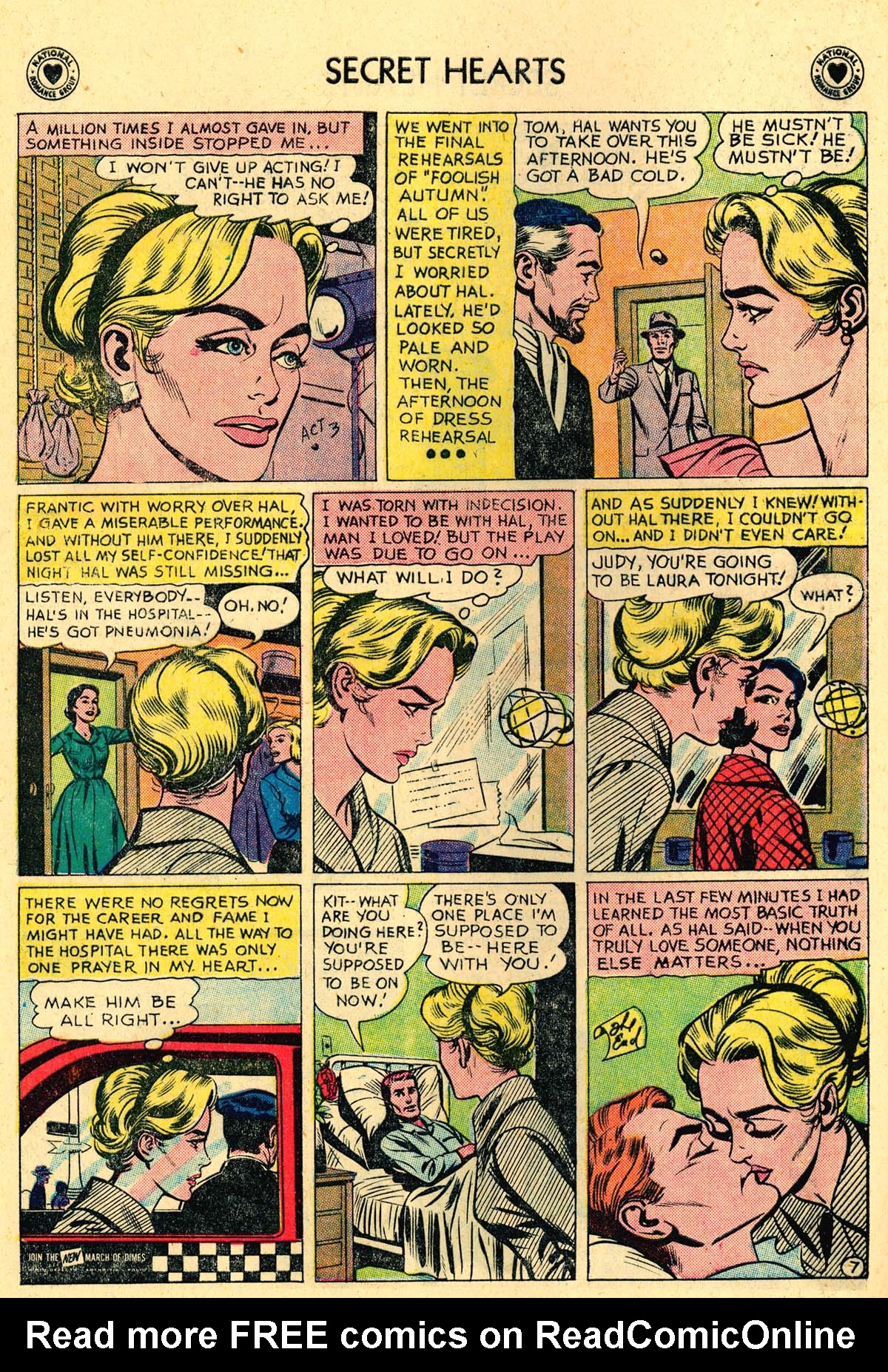 Read online Secret Hearts comic -  Issue #62 - 24