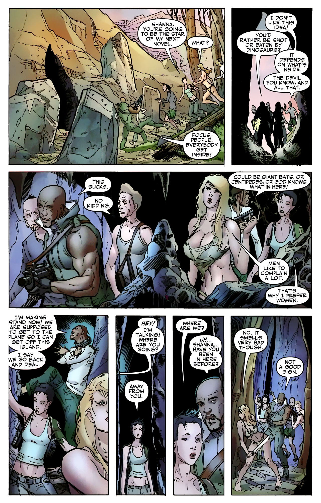 Read online Shanna the She-Devil: Survival of the Fittest comic -  Issue #2 - 9