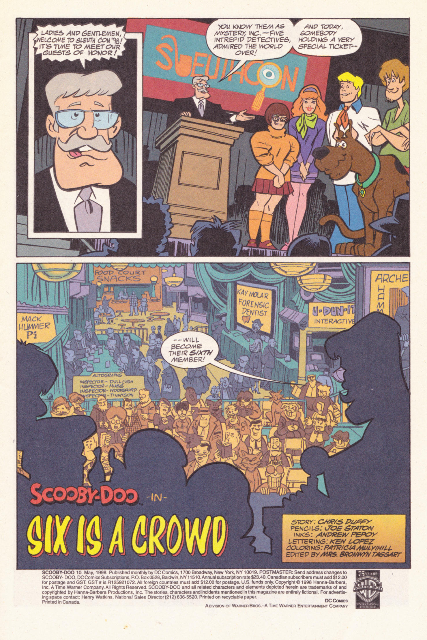 Read online Scooby-Doo (1997) comic -  Issue #10 - 2