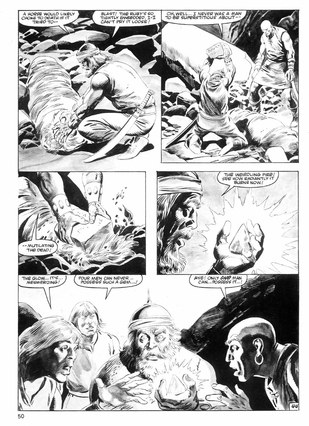 The Savage Sword Of Conan Issue #98 #99 - English 50