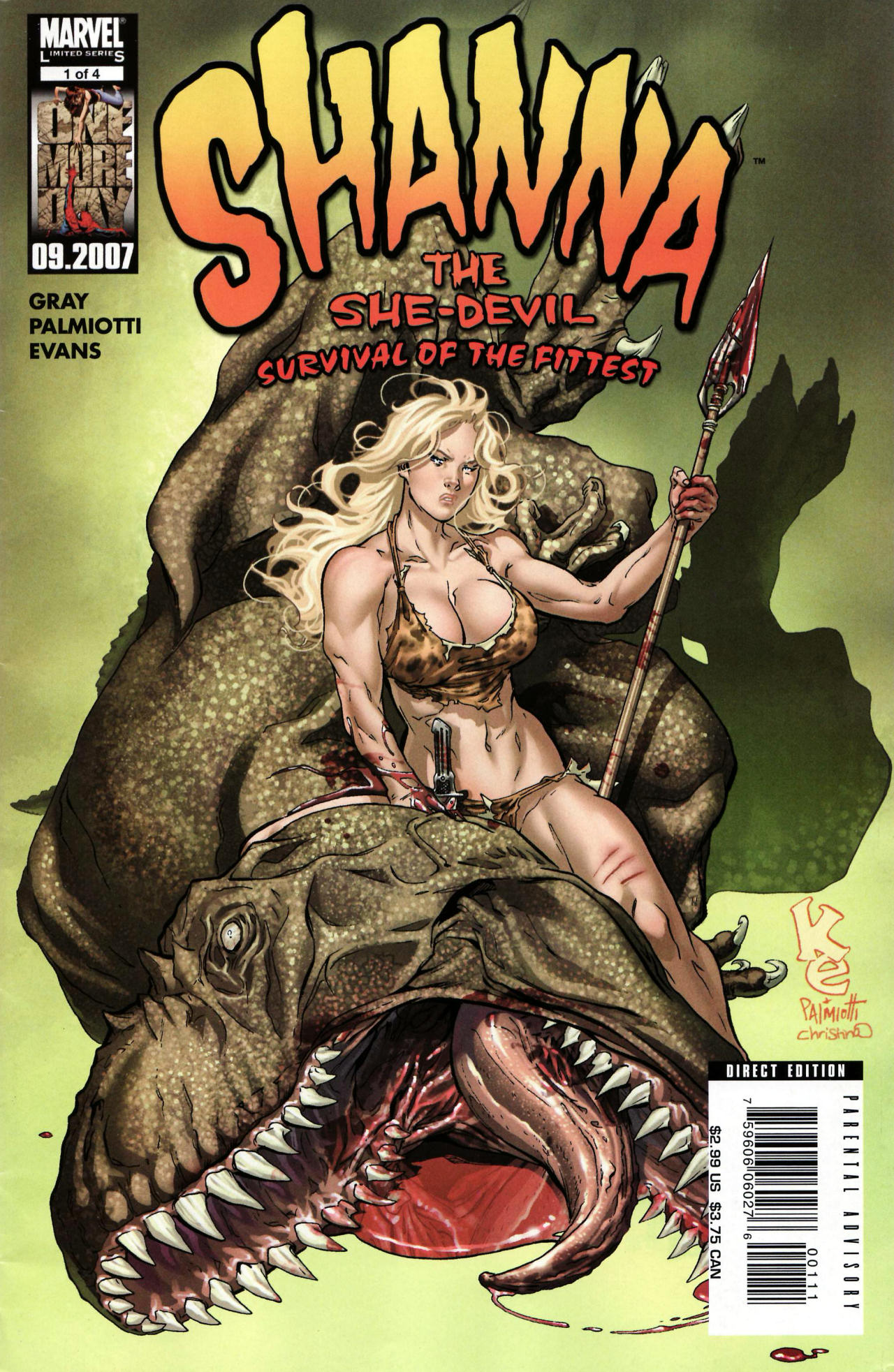 Read online Shanna the She-Devil: Survival of the Fittest comic -  Issue #1 - 1