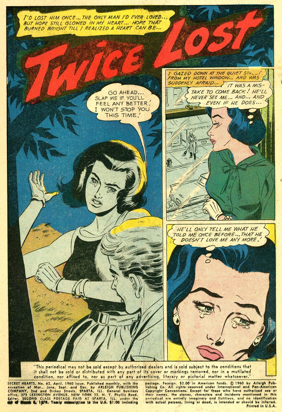 Read online Secret Hearts comic -  Issue #62 - 3