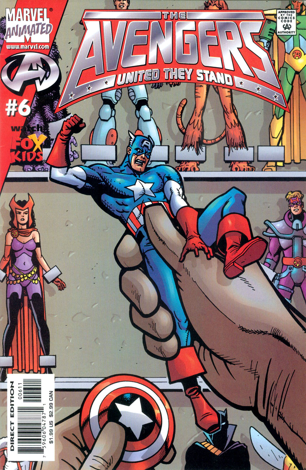 Read online Avengers United They Stand comic -  Issue #6 - 1