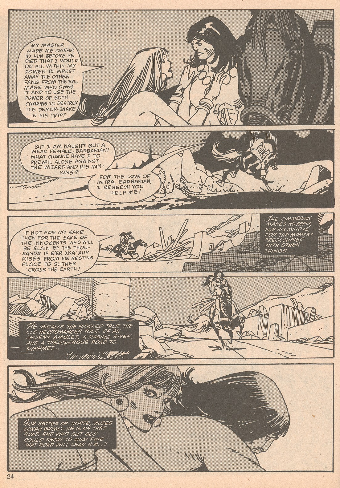 The Savage Sword Of Conan Issue #65 #66 - English 24