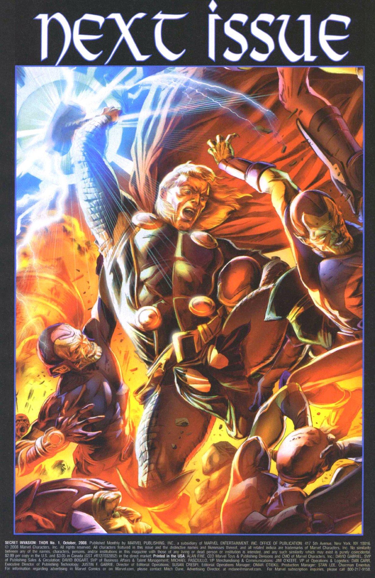 Read online Secret Invasion: Thor comic -  Issue #1 - 23