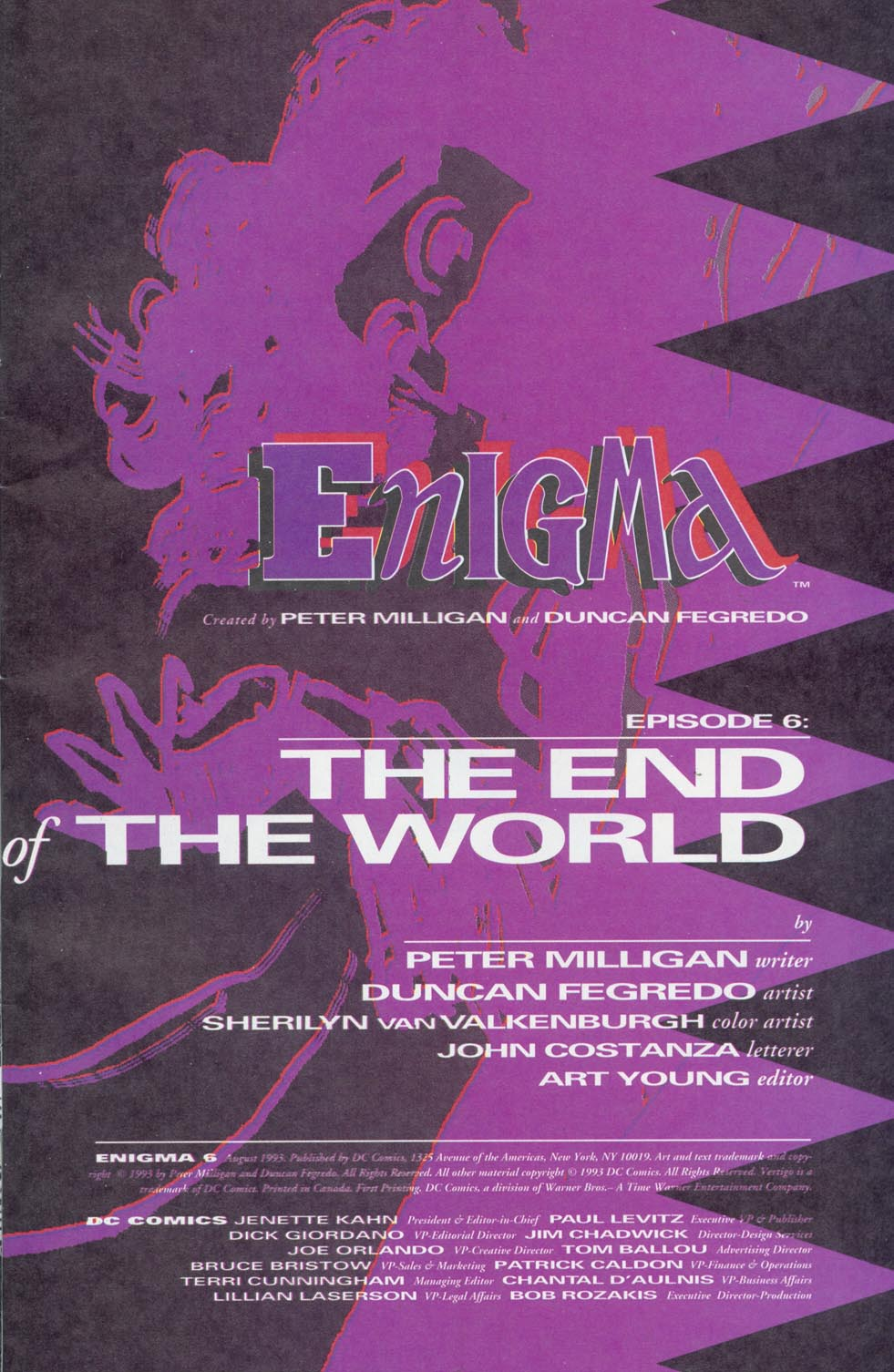 Read online Enigma comic -  Issue #6 - 2