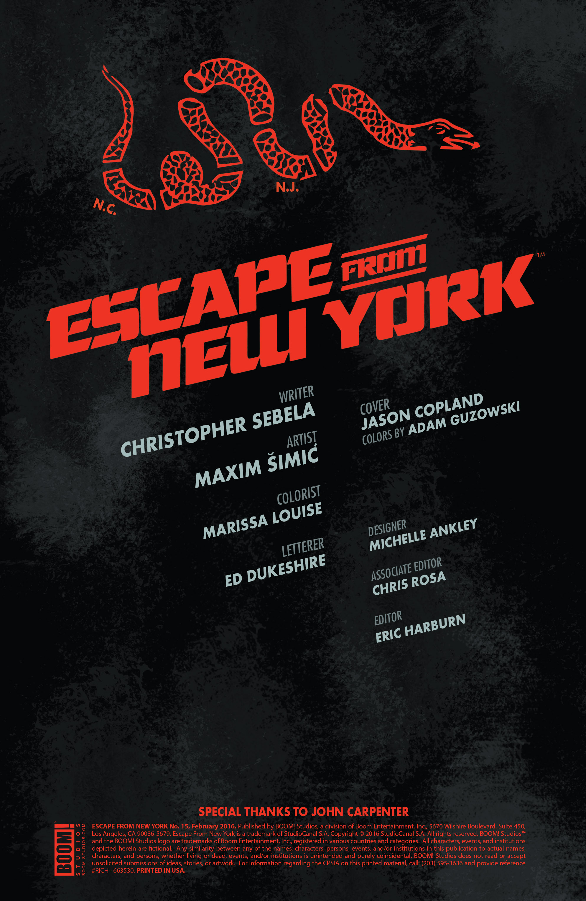 Read online Escape from New York comic -  Issue #15 - 2