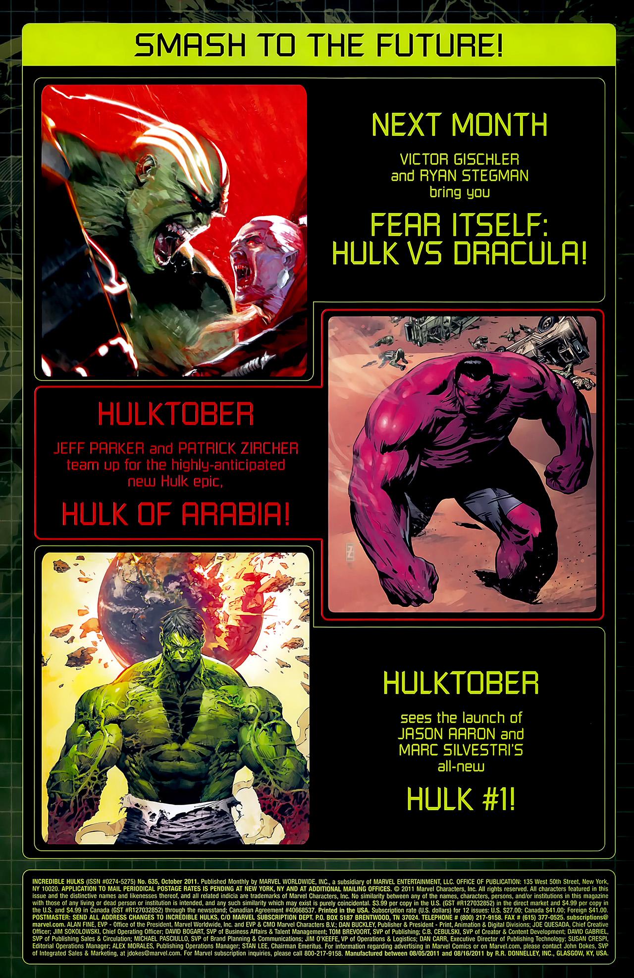 Incredible Hulks (2010) #635 #26 - English 44