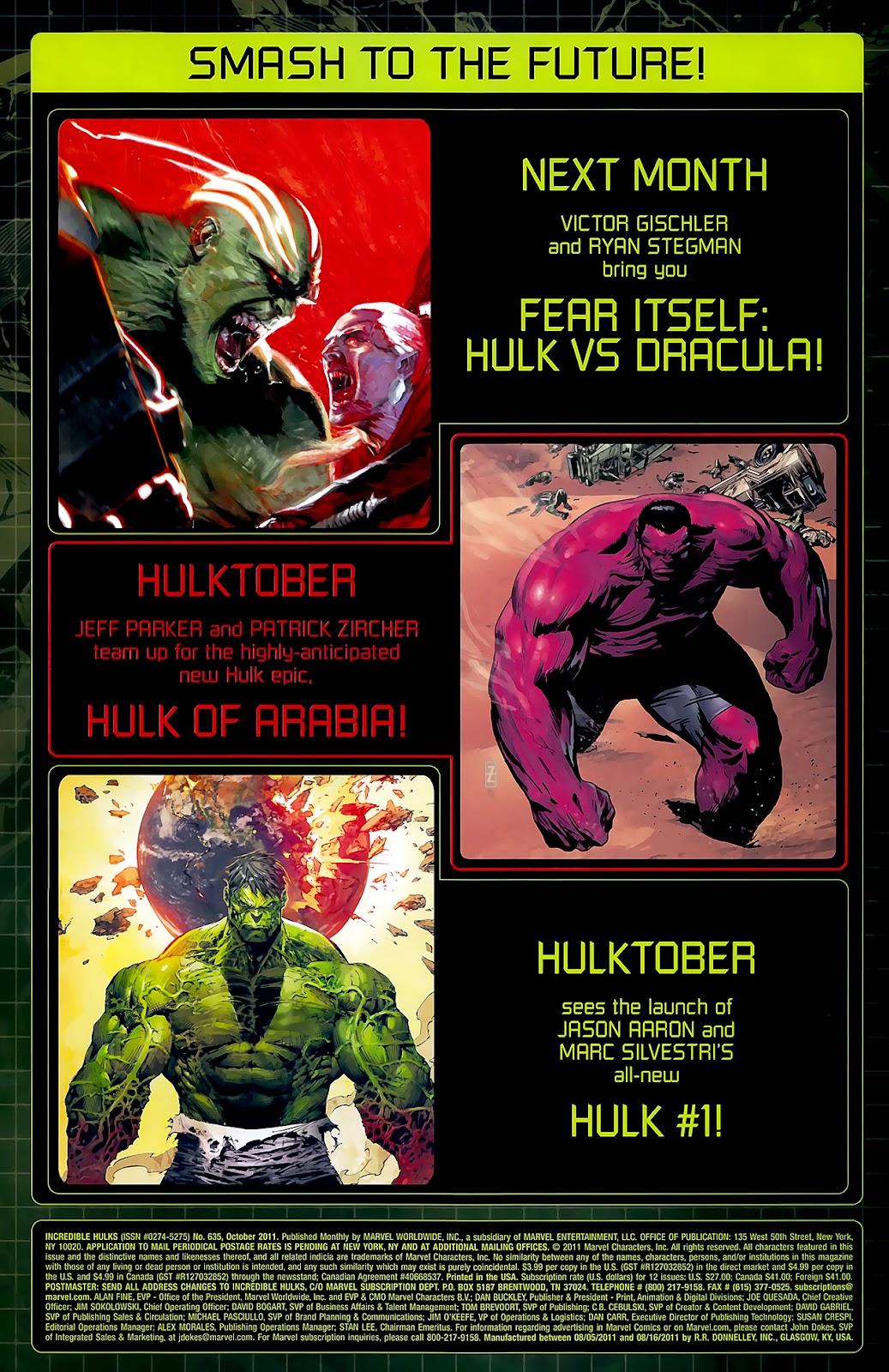 Incredible Hulks (2010) Issue #635 #25 - English 44