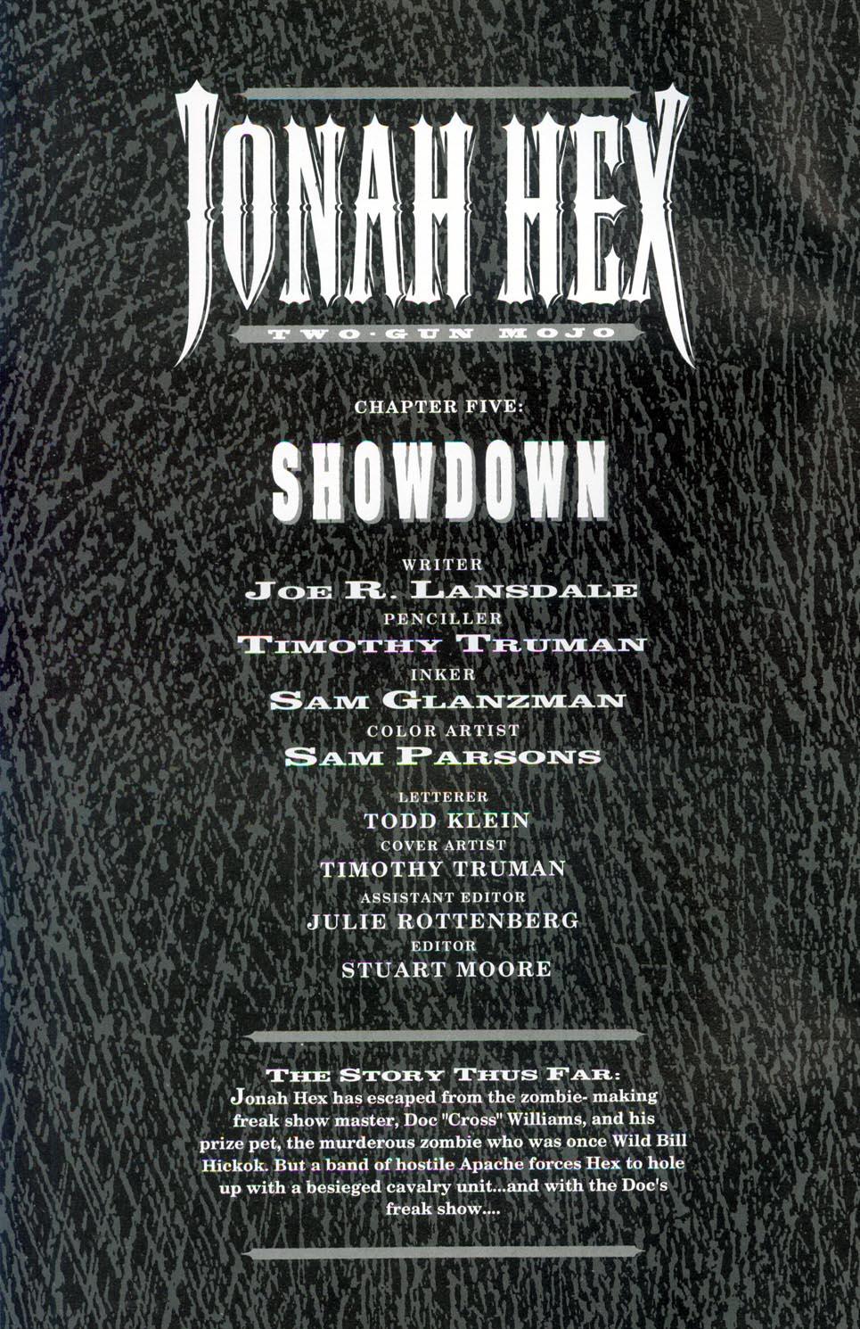Jonah Hex: Two-Gun Mojo 5 Page 2