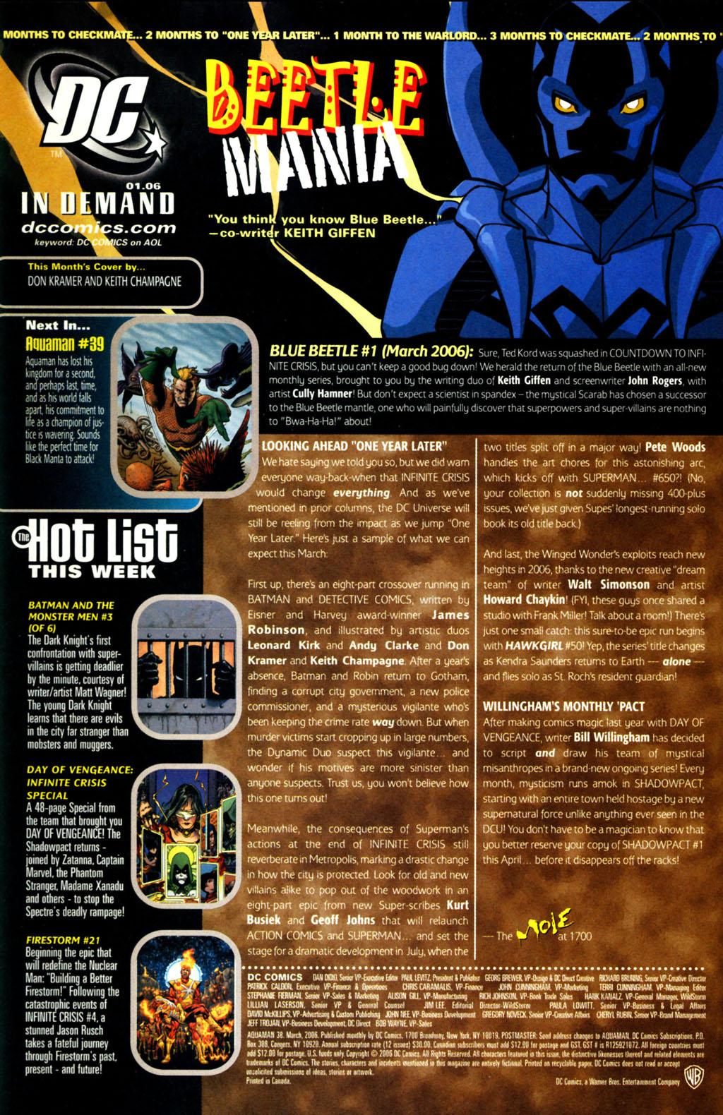 Read online Aquaman (2003) comic -  Issue #38 - 24