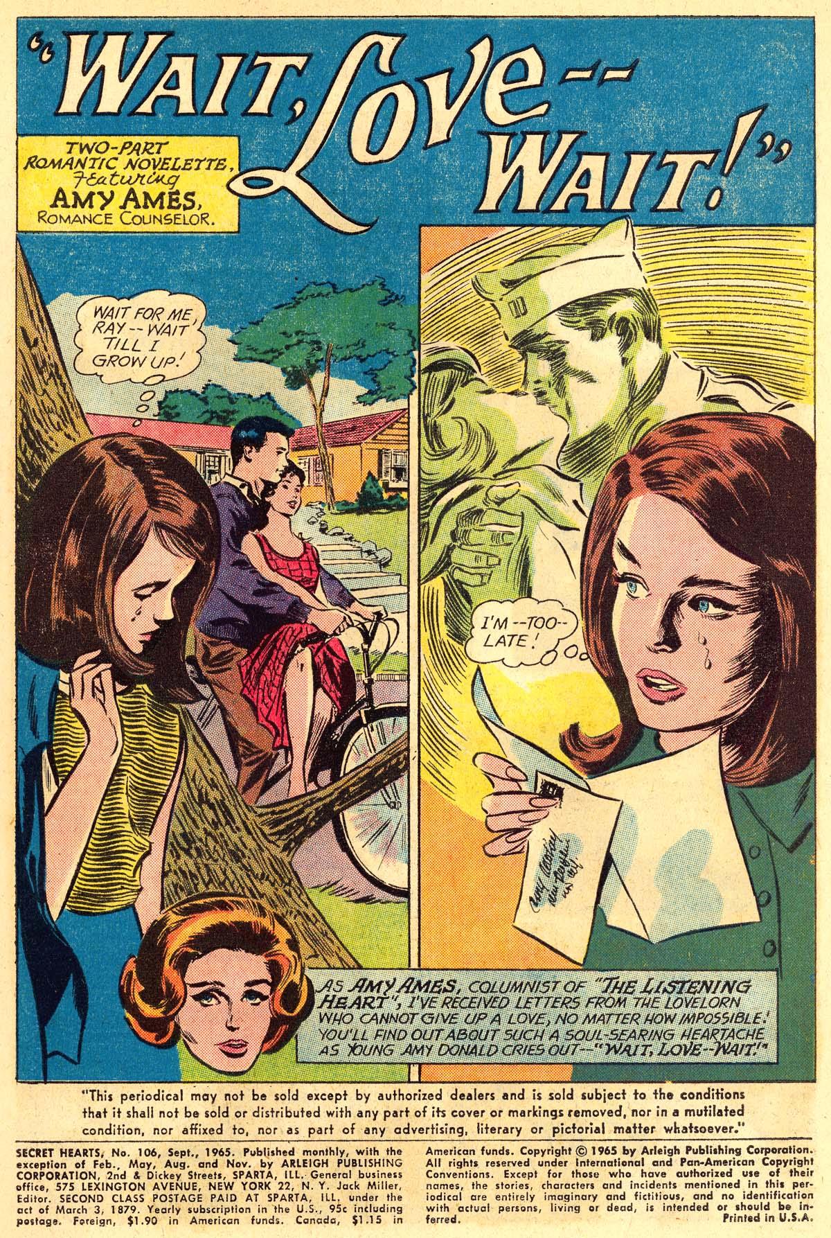 Read online Secret Hearts comic -  Issue #106 - 3