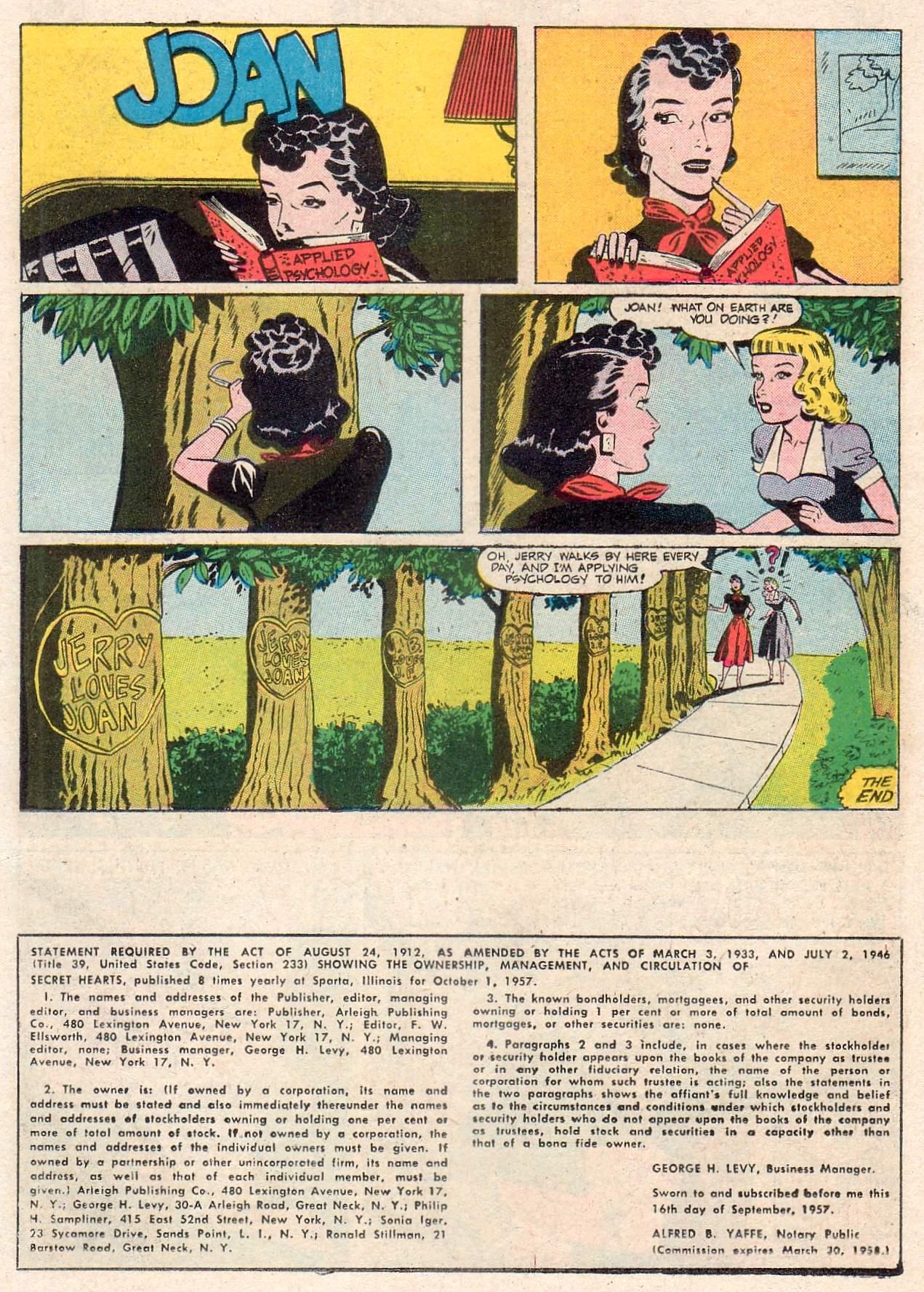 Read online Secret Hearts comic -  Issue #46 - 26