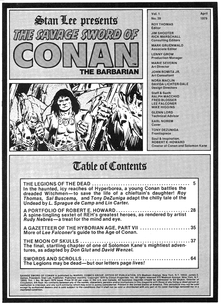 The Savage Sword Of Conan Issue #39 #40 - English 3