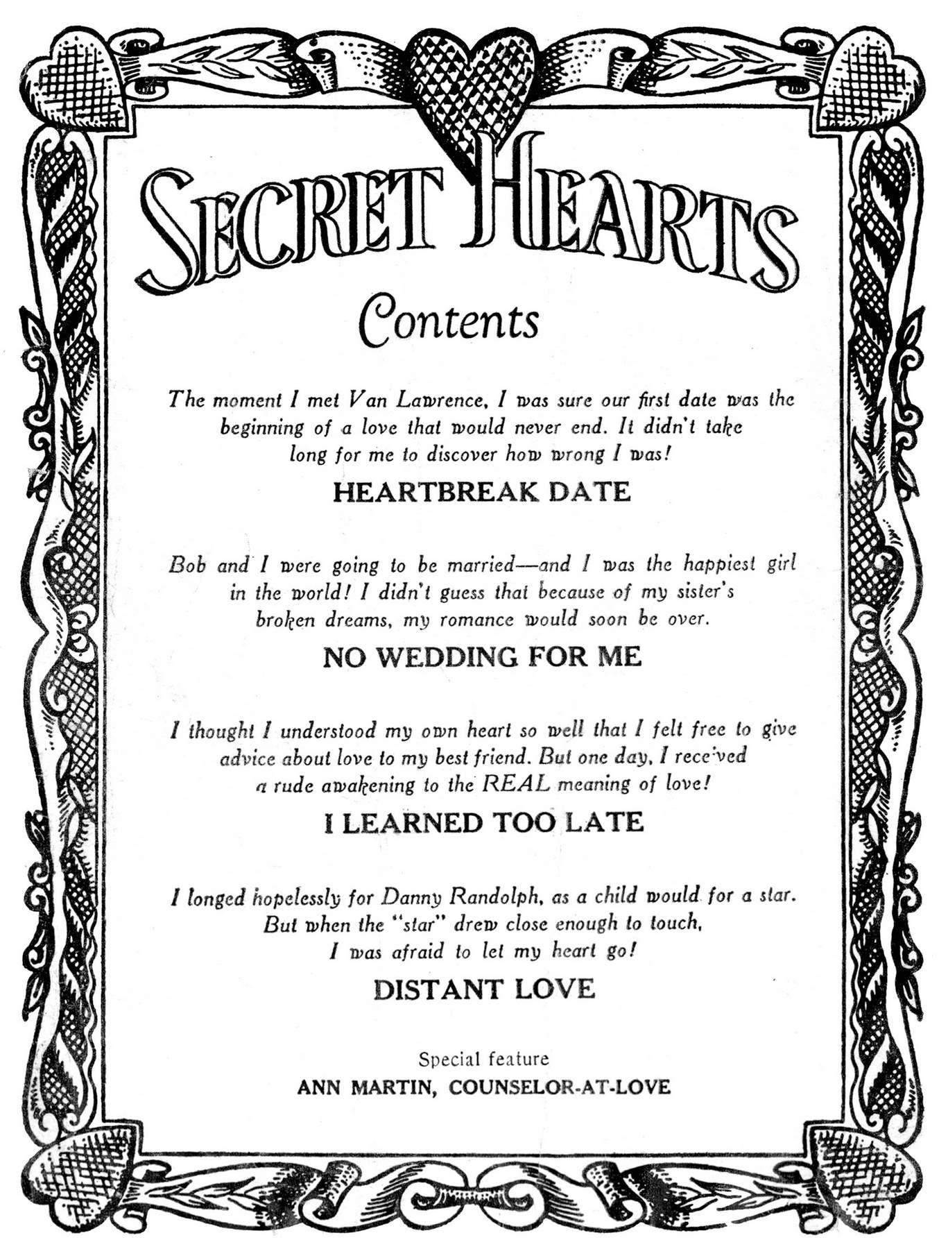 Read online Secret Hearts comic -  Issue #28 - 2