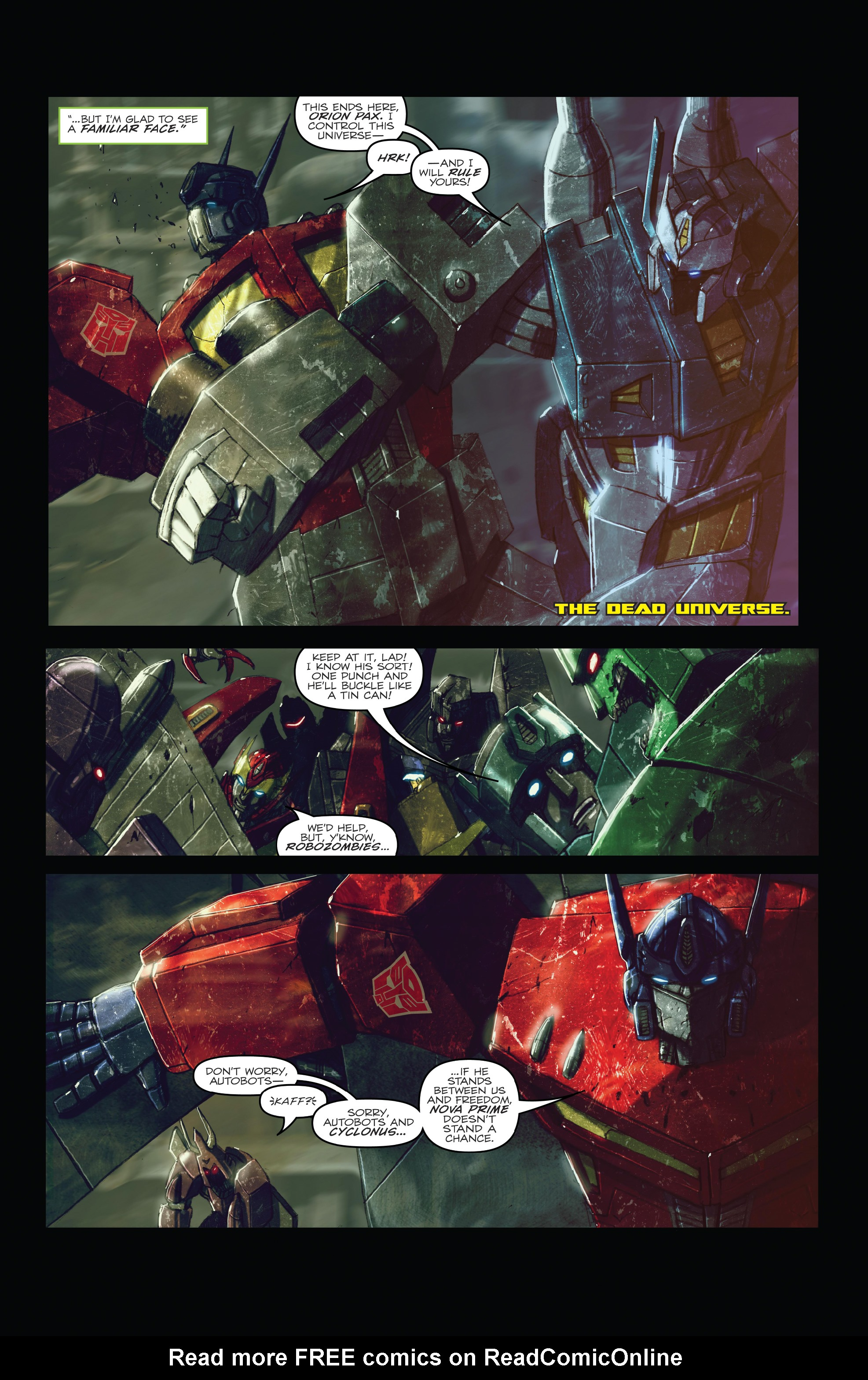 Read online The Transformers: Dark Cybertron Finale comic -  Issue # Full - 59