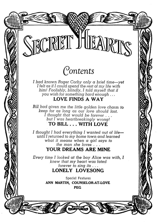 Read online Secret Hearts comic -  Issue #41 - 2