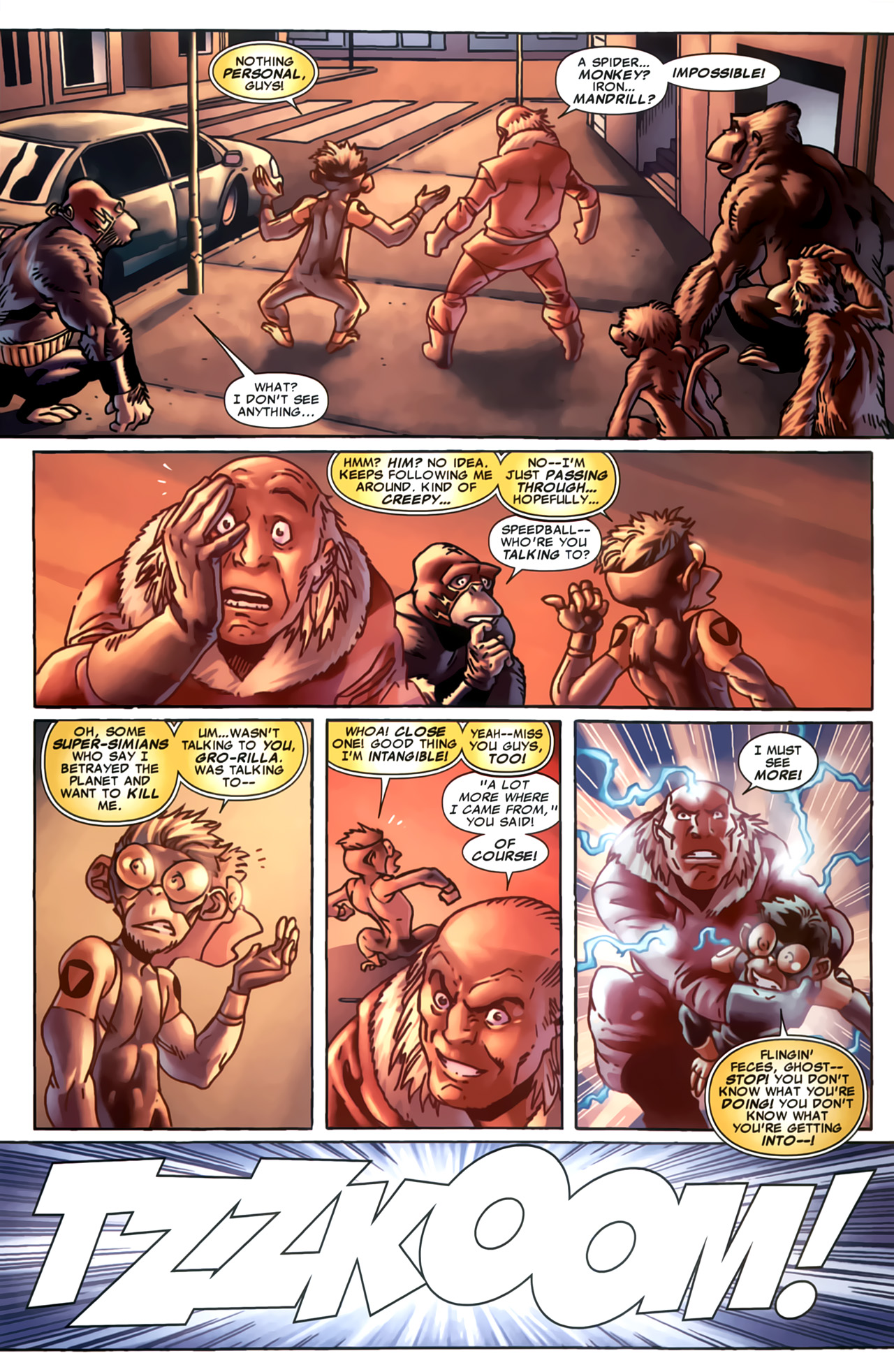 Read online Marvel Apes: Speedball Special comic -  Issue # Full - 25