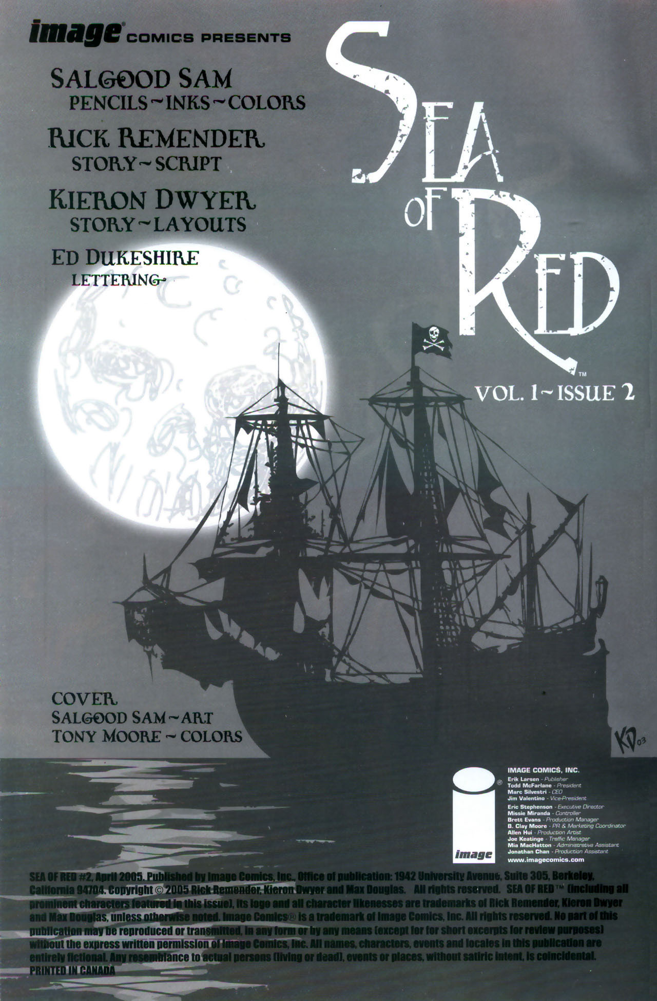 Read online Sea of Red comic -  Issue #2 - 2
