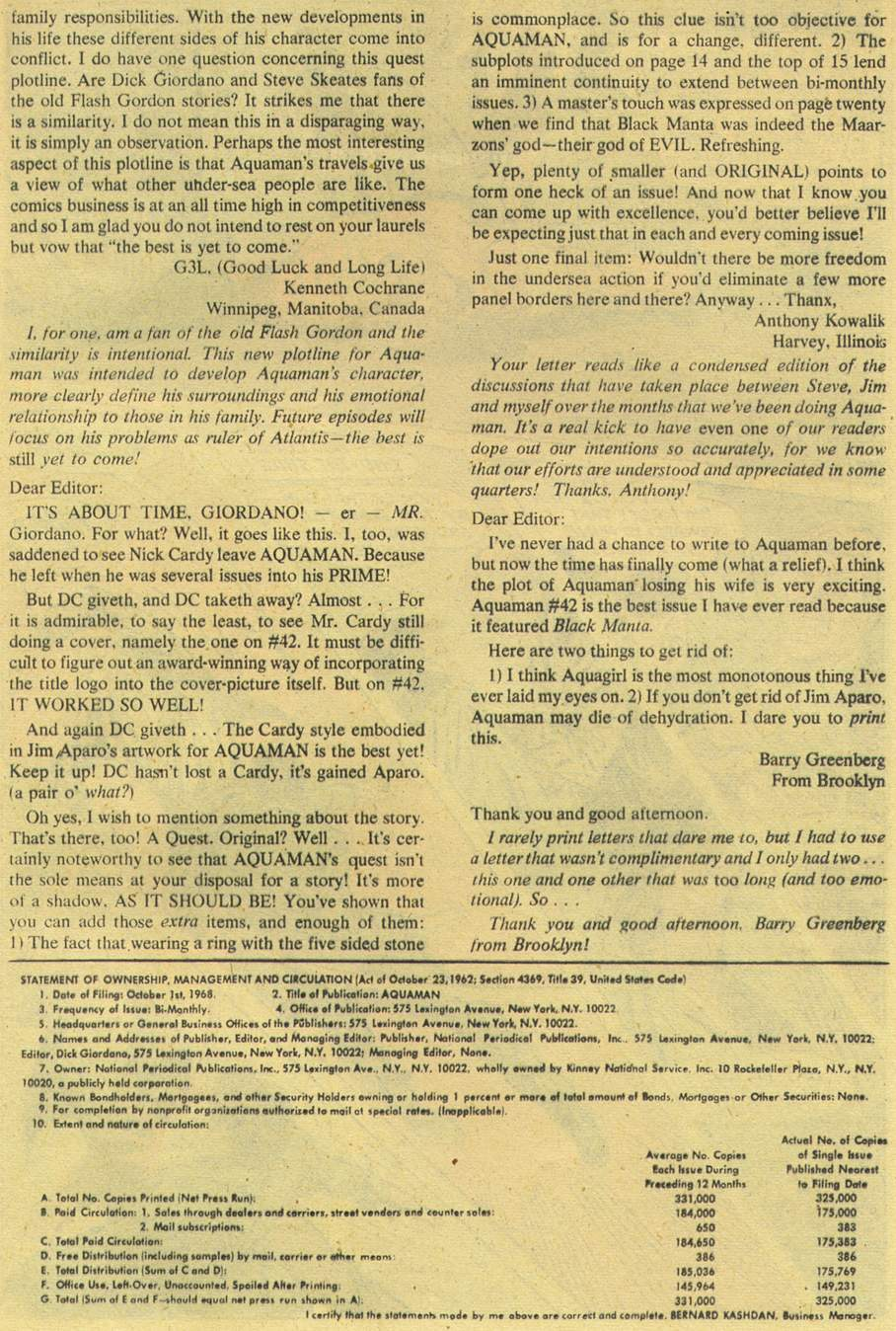Aquaman (1962) Issue #44 #44 - English 21