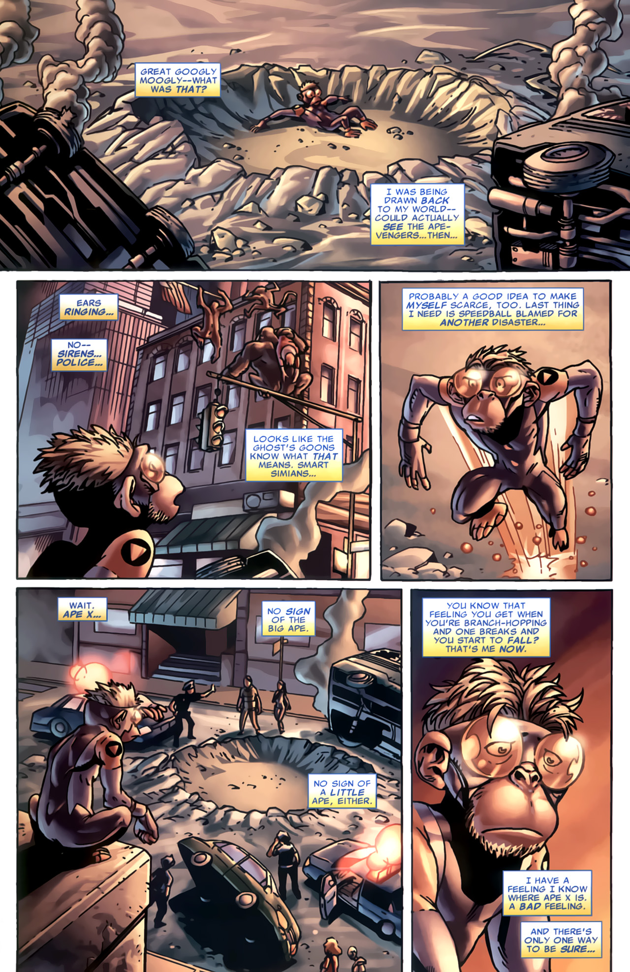 Read online Marvel Apes: Speedball Special comic -  Issue # Full - 26