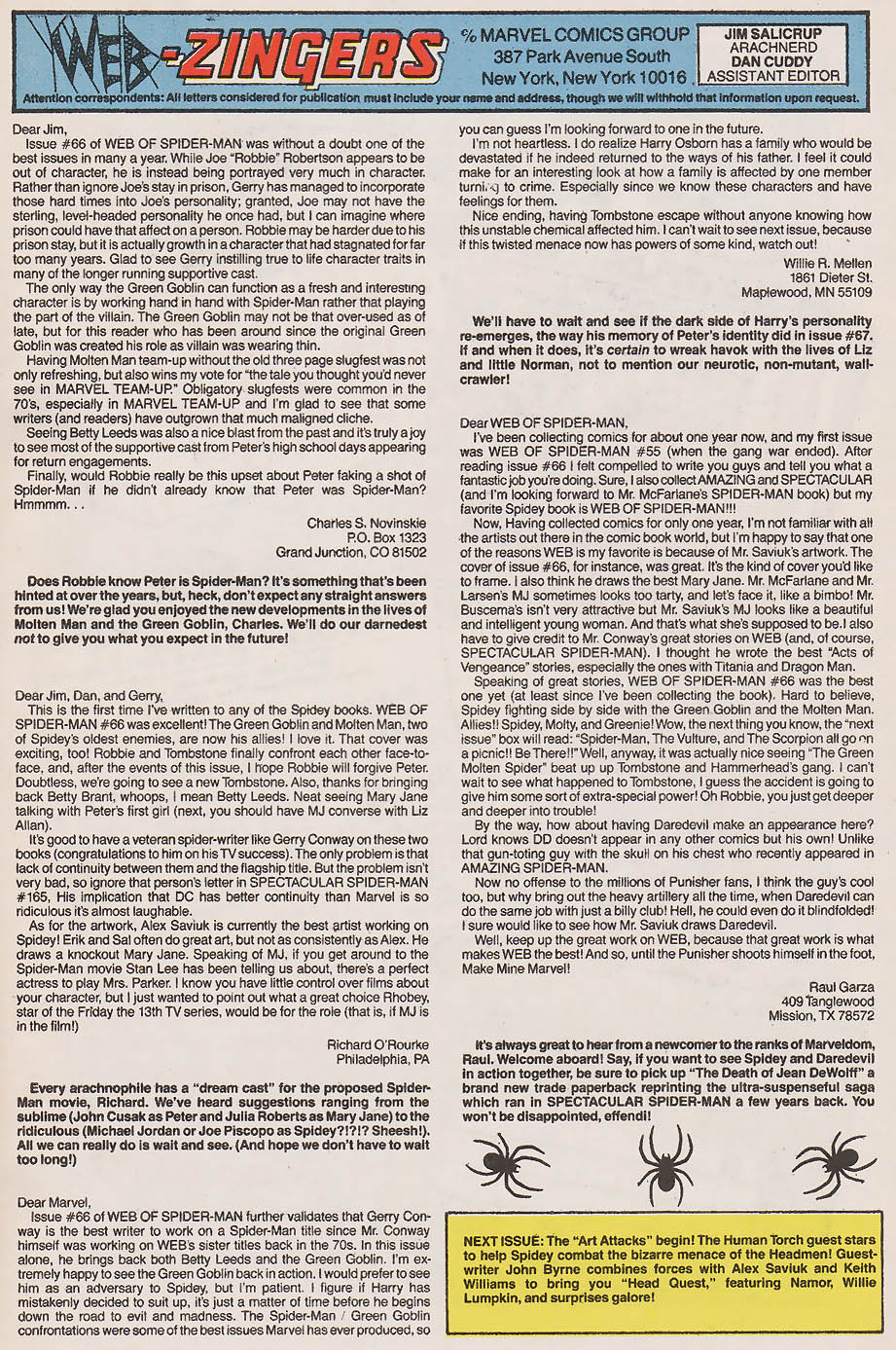 Web Of SpiderMan  Issue   Read Web Of SpiderMan
