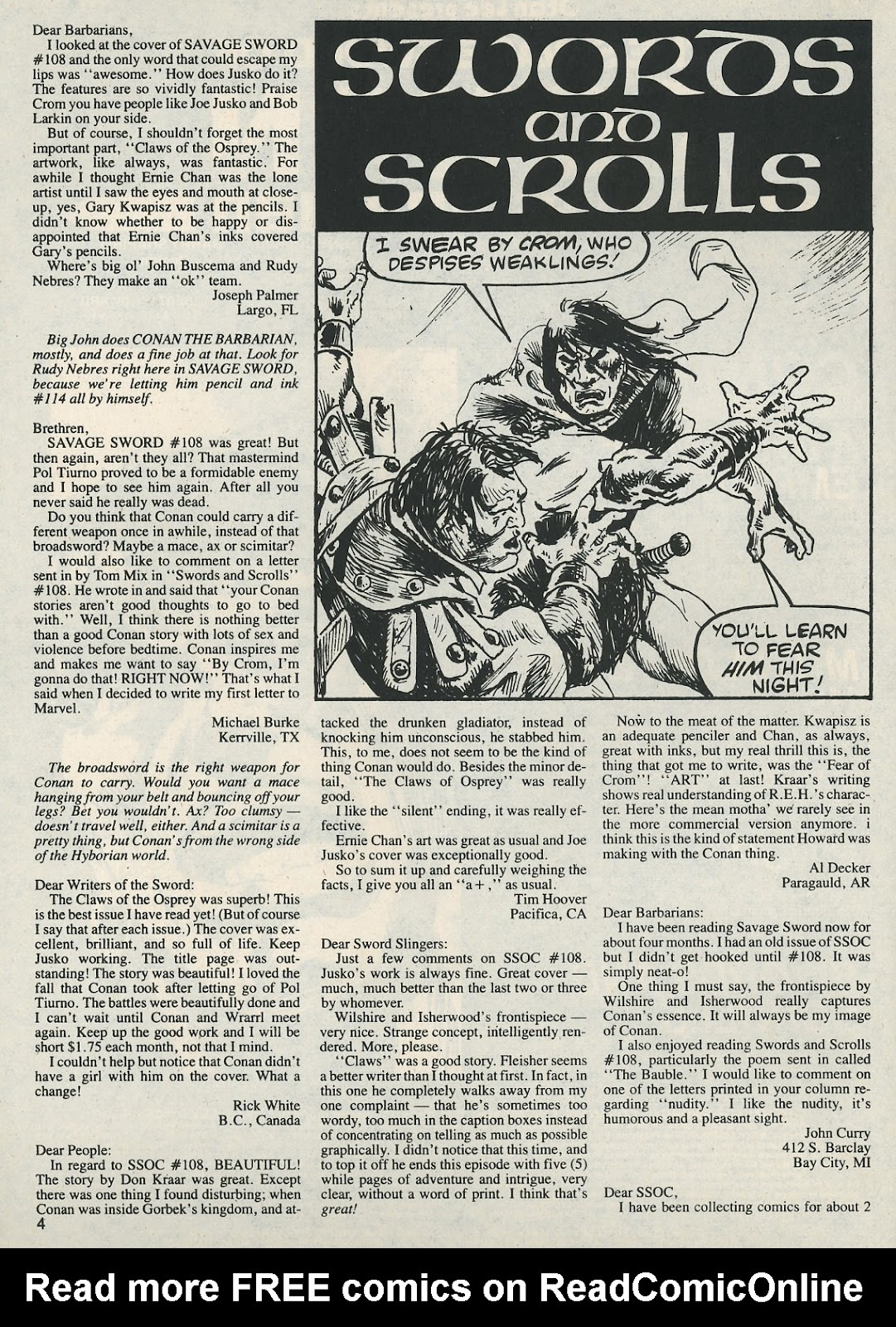 The Savage Sword Of Conan Issue #112 #113 - English 4