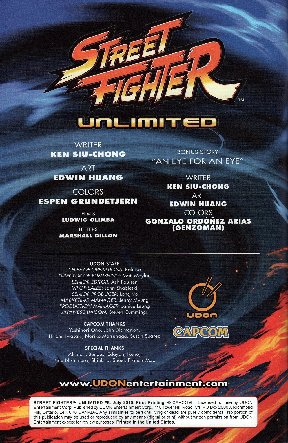 Street Fighter Unlimited Issue #8 #10 - English 2
