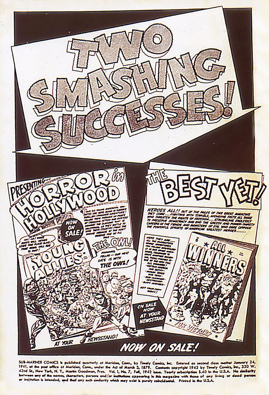 Sub-Mariner Comics Issue #7 #7 - English 2