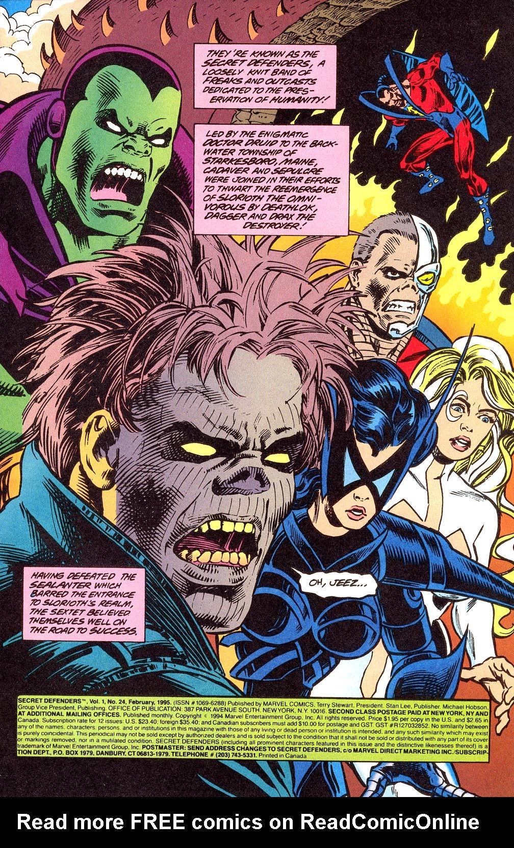 Read online Secret Defenders comic -  Issue #24 - 2