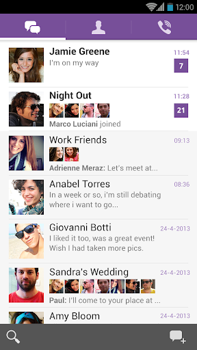 Viber 2014 Screen
