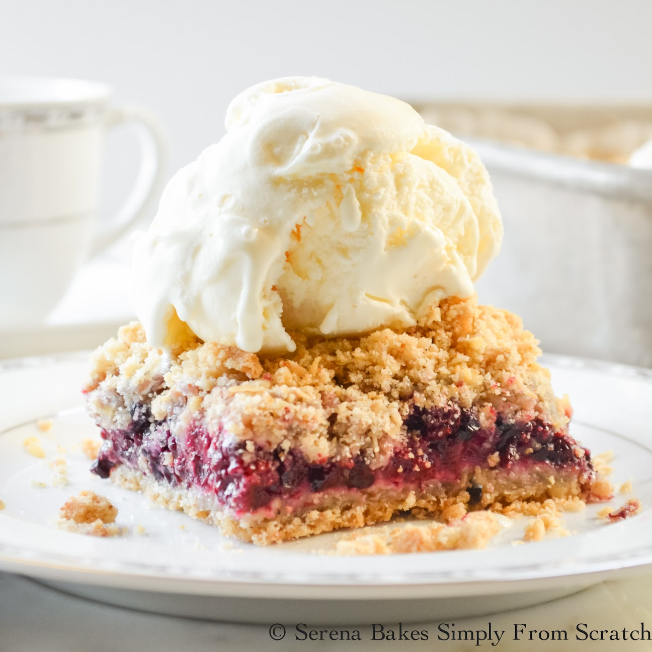 Blackberry Crumb Bars | Serena Bakes Simply From Scratch
