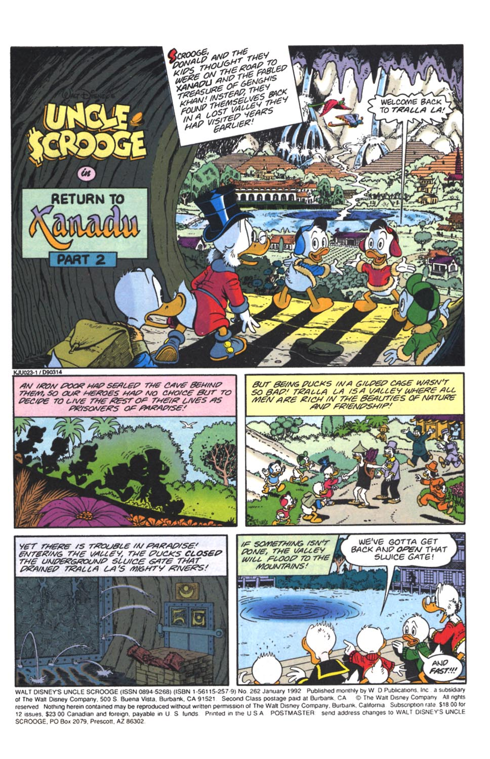 Uncle Scrooge (1953) Issue #262 #262 - English 2