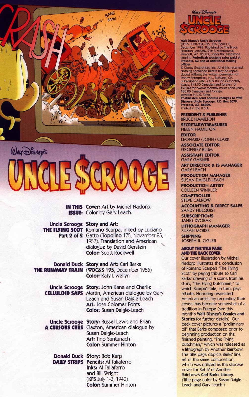 Uncle Scrooge (1953) Issue #316 #316 - English 4