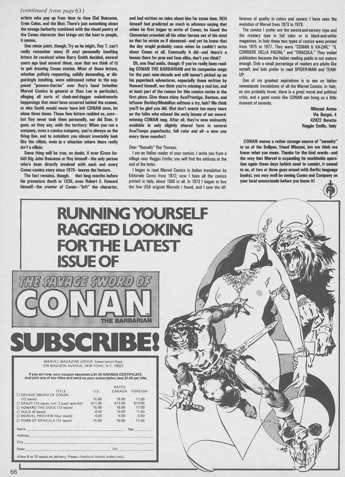 The Savage Sword Of Conan Issue #49 #50 - English 66