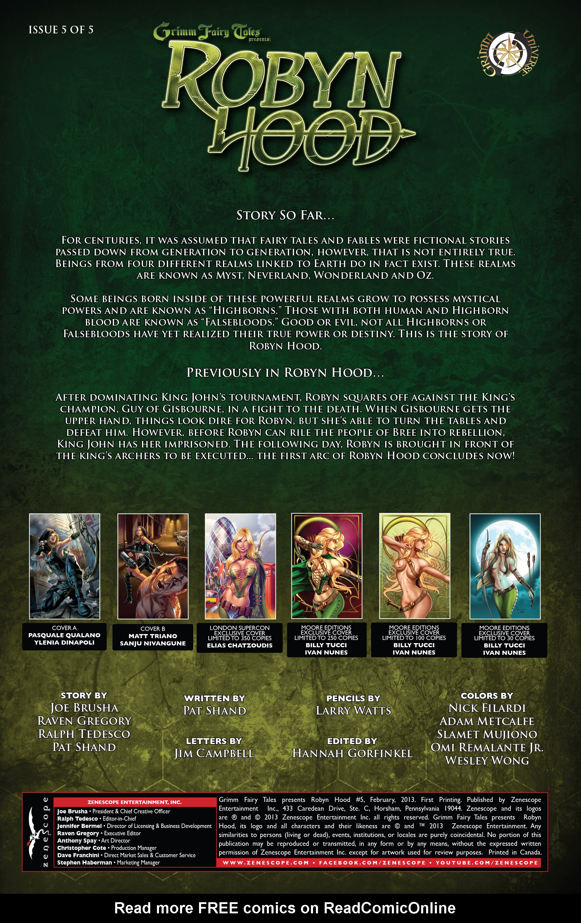 Read online Grimm Fairy Tales presents Robyn Hood (2012) comic -  Issue #5 - 2