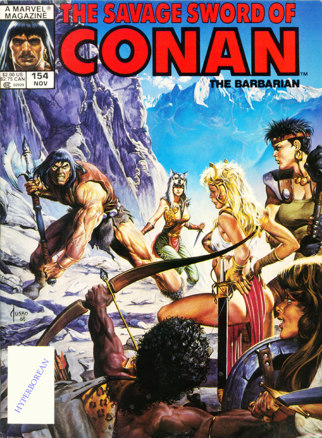 The Savage Sword Of Conan Issue #154 #155 - English 1