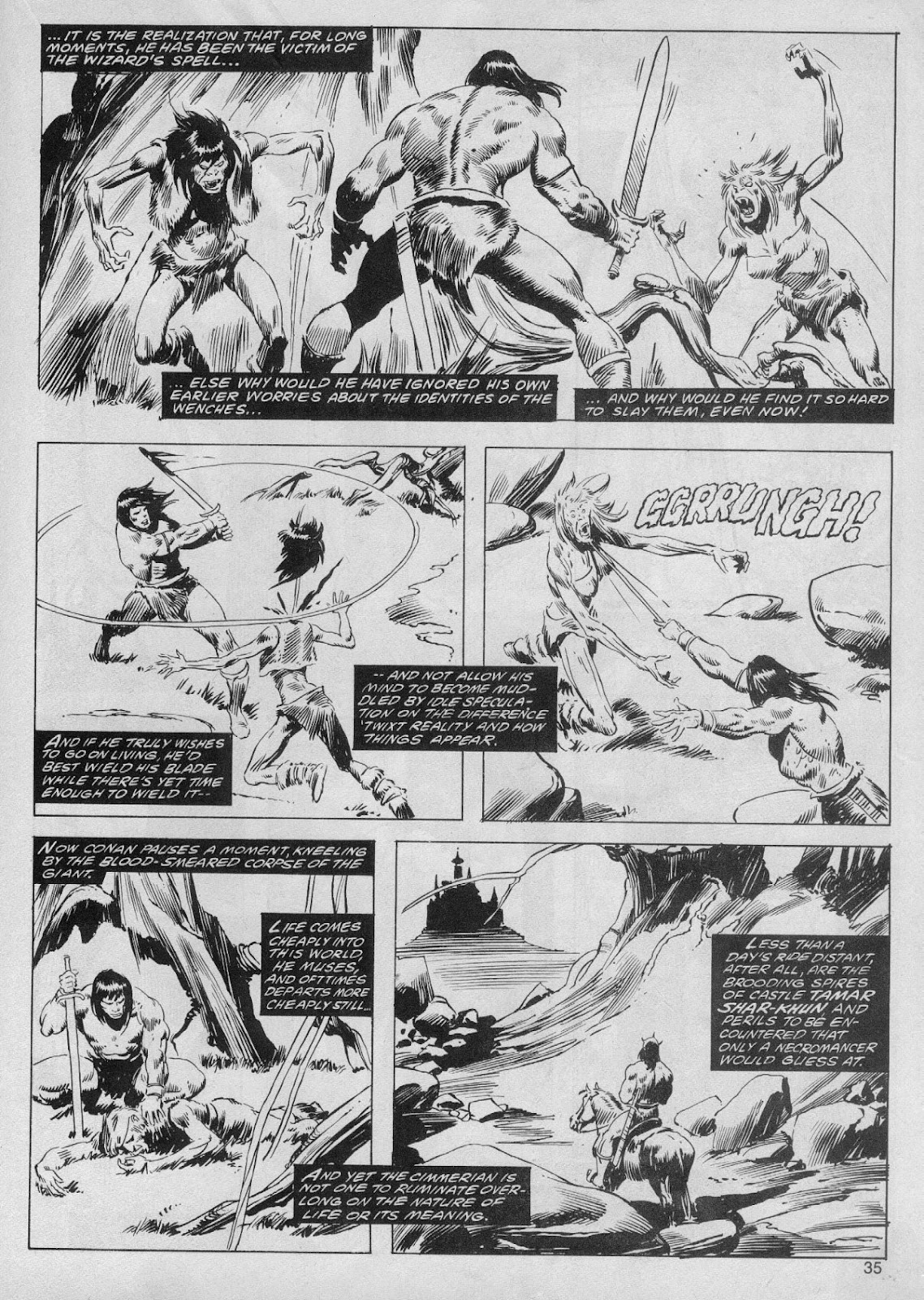 The Savage Sword Of Conan Issue #61 #62 - English 35