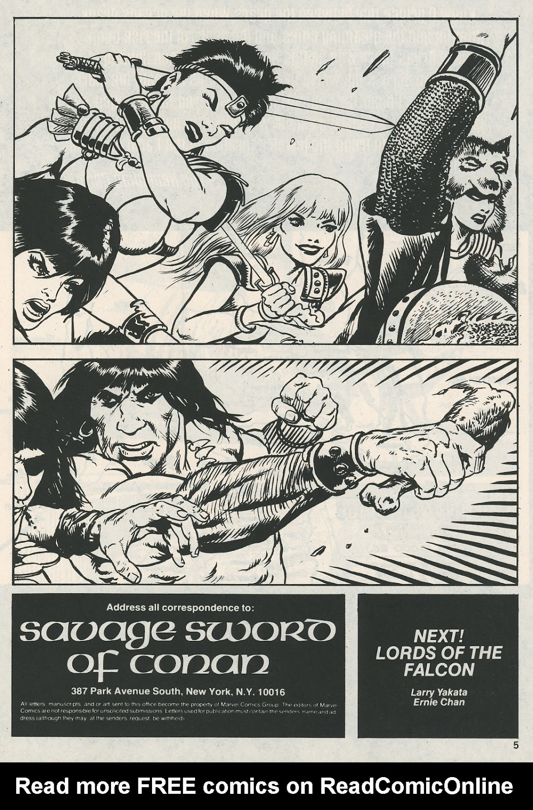 The Savage Sword Of Conan Issue #115 #116 - English 5